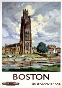 Vintage Travel Poster Boston Lincolnshire vintage British Railways poster